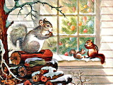 Christmas Winter Squirrels