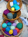 Baskets of yarn
