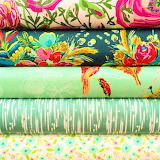 Pretty Fabrics in Greens