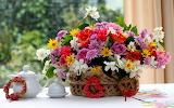 abstract widewallpaper spring-bouquet
