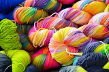 Colorful variegated yarn