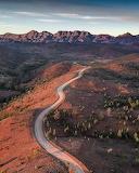 Road through Bunyeroo Valley Australia