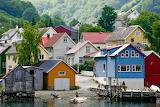 Fishing village on the Sogne Fjord