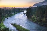 Morning scene mist and fog Blackfoot River Valley Montana