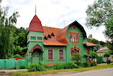 Russian green cottage