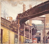 Richard A. Chase, Elevated Tracks at Lake and Wabash ICHi-066526