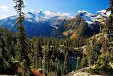 Mountain Scenery Lake and Fir Trees Skykomish Washington USA