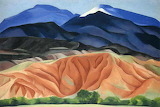 "Landscape Art tumblr dogstardreaming ""Black Mesa Landscape, New"