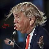 ^ Donald Trump caricature ~ Jikiar Gu