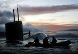 RN Submarine HMS Talent. Drills in Scotland by Defence Image