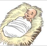 Bébé Jésus dort