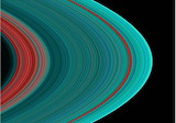 False-color UV image of Saturn's outer rings