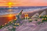 Paysage bord de mer-fantaisie