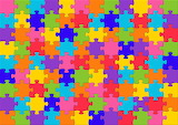 rainbow colored jigsaw puzzle