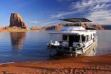 House Boat Lake Powell Utah USA