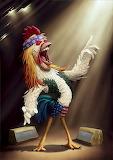 Rocker Singer Rooster