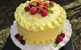 Torta de vainilla con frutas