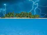 Small Florida Island Pummeled By Lighting