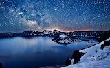 Milky Way above Crator Lake. Oregon