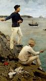 Fisher Boys Falmouth bt Henry Scott Tuke 1885