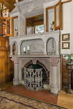 1886 Campbell Castle - Stone Fireplace