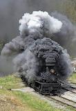 Lots of smoke & steam