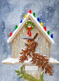 ^ Christmas birdhouse