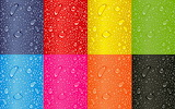 Wet abstract rainbow colours