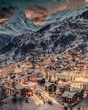 Winter Night in Switzerland