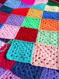 Colors crochet afghan squares