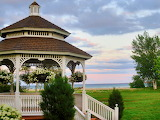 Mackinac Island Mission Point Gazebo by Tony Staeger
