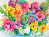 Watercolour flowers.......................x