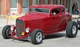 Ford 32 rod red 5 wndw MOD