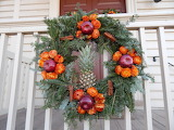 ^ Christmas natural wreath