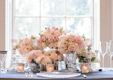 Blush pink flower arrangments