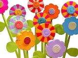 wooden lollipop flowers