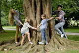 playing round the tree
