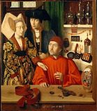 The Goldsmith by Petrus Christus, 1449, Bruges (Flanders)