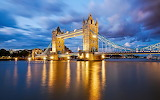 London,Sunset over the river Thames