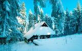 Избушка под снегом