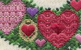 ^ Hand stitched hearts