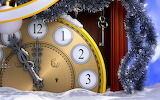 clock and christmas ornament