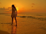 #Sad Love Crying Woman Sunset Beach