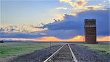 Railroad tracks near Choteau Montana