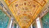 Vatican museums, gallery, decorations, architecture