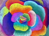 Georgia O'Keefe inspired Flower Zoom