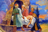 Jesus is laid in the tomb