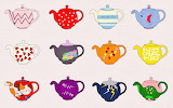 Tea Pots in a Row