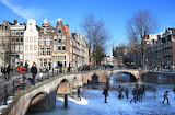 Amsterdam:Canal en hiver