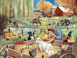 Helping Grandpa at the Farm